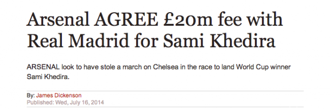 Screen Shot 2014 07 17 at 08.56.01 Transfer Balls: Sami Khedira Agrees Arsenal Move Without His Agent Knowing