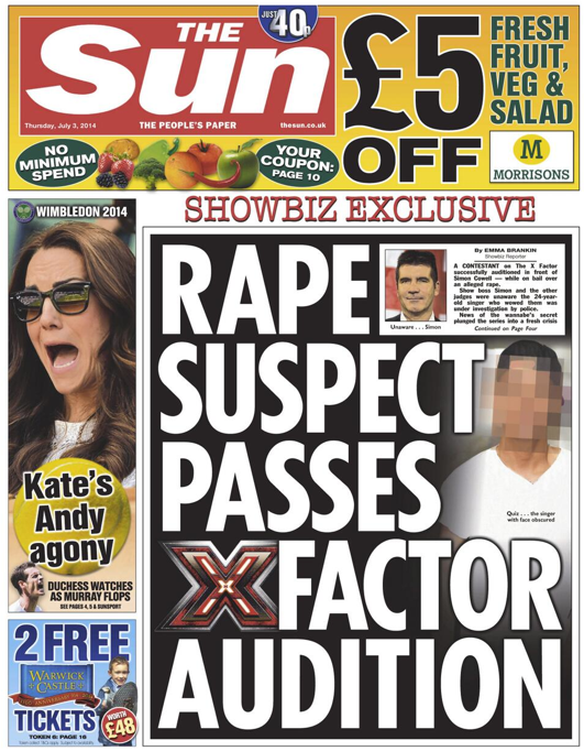 Screen shot 2014 07 03 at 08.07.56 X Factor Judge Cheryl Cole Survives Alleged Criminal Singer
