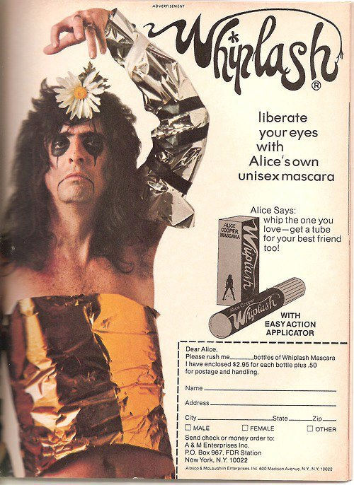alice cooper eyeliner 6 Weird And Fabulous Items Of Band Merchandise