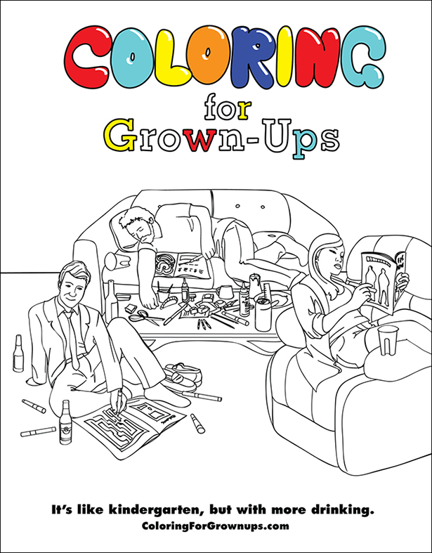 coloring1 Colour Me A Dead Chris Brown For Fathers Day: COLORING FOR GROWN UPS Is A Book Of Regret