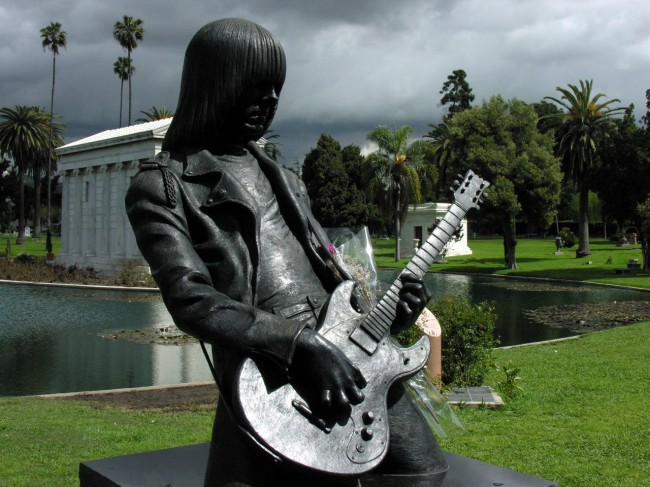 Johnny Ramone   Hollywood Forever Cemetery 1 Hit or Bust: A Look At Pop Stars Immortalised In Statues