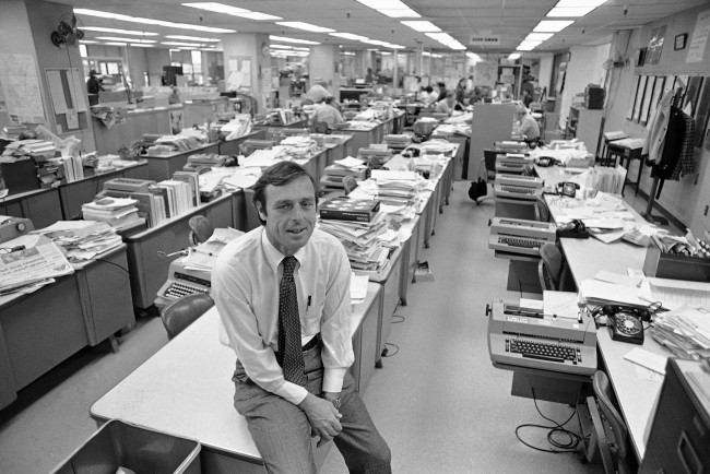 Reg Murphy, publisher of the San Francisco Examiner, in the Examiner newsroom on June 16, 1977 in San Francisco. (AP Photo/Jim Palmer)