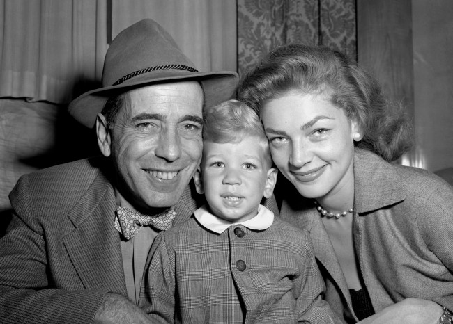 On this day in 1945, Lauren Bacall & Humphrey Bogart became husband and wife. Humphrey Bogart, his wife Lauren Bacall and their young son Stephen in Southampton after a dash to catch the French liner Ile de France on their way back to America. Bogart was working at Walton Hall studios, Isleworth, Middlesex. Date: 07/09/1951