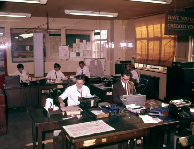 General view of the Press Association's news room in London. Ref #: PA.17064435  Date: 31/07/1963