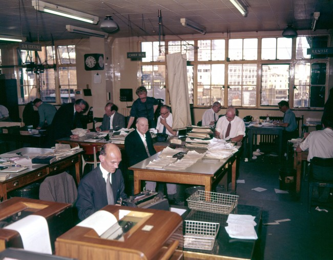 General view of the Press Association's news room in London. Ref #: PA.17064436  Date: 31/07/1963