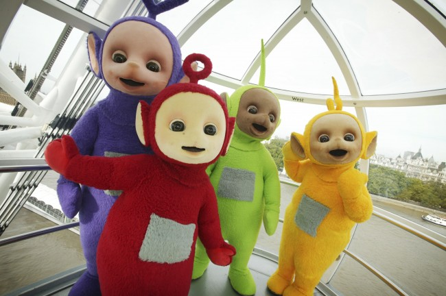 The editorial team: Tinky Winky, Dipsy, Laa Laa, Po, Spazzy McGee and Lord Lucan