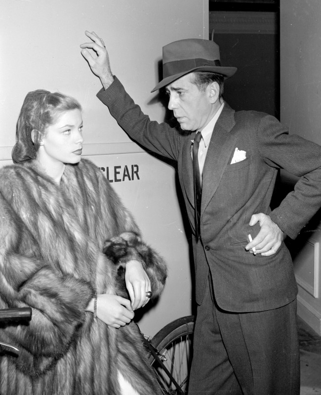 "Humphrey Bogart and Lauren Bacall ca. 1946, at about the time they appeared together in ""The Big Sleep."" (AP Photo)"