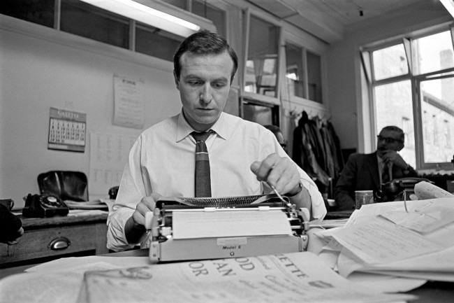 Blackpool's Jimmy Armfield writing his column for the Blackpool Gazette Ref #: PA.742987  Date: 10/11/1967
