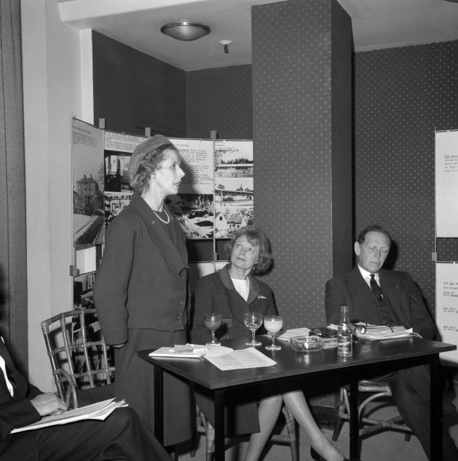 Sue Ryder, of the Sue Ryder Forgotten Allies Trust, addressing a press conference in London during which she launched an appeal for £250,000 for expansion of the work of the Trust. Ref #: PA.9342328  Date: 10/11/1965