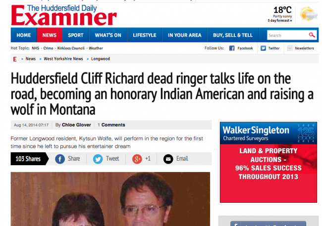 Screen shot 2014 08 14 at 15.37.22 The Huddersfield Examiner Picks A Great Day To Profile Cliff Richards Dead Ringer