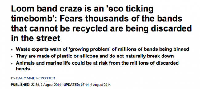 Screen shot 2014 08 20 at 13.07.45 Loom Mongers: The Daily Mail Says Loom Bands Give You Cancer, Kill Turtles And Maim Your Kids