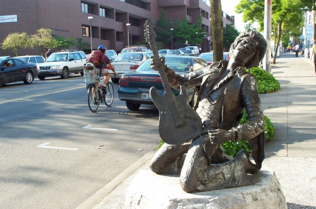 hendrix statue Hit or Bust: A Look At Pop Stars Immortalised In Statues