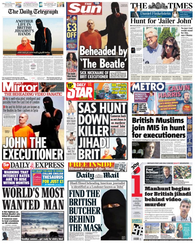 jihadi john the beatle James Foley: British Police Hunt Ali G, John The Beatle And Missing Bin Laden Impersonators