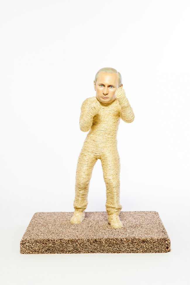 putin scratch post Pussycat Riot Rips Into Putin: Dictator Themed Litter Boxes and Scratch Posts