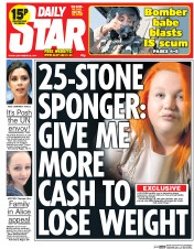Daily Star 26 9 2014 Big Fat Targets: Christina Briggs Lives On A Diet Of Rotten Tomatoes