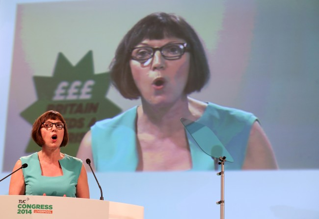 PA 20855182 BBC Breaks TUC leader Frances O'Grady Speech on Class With Royal Baby Newsflash