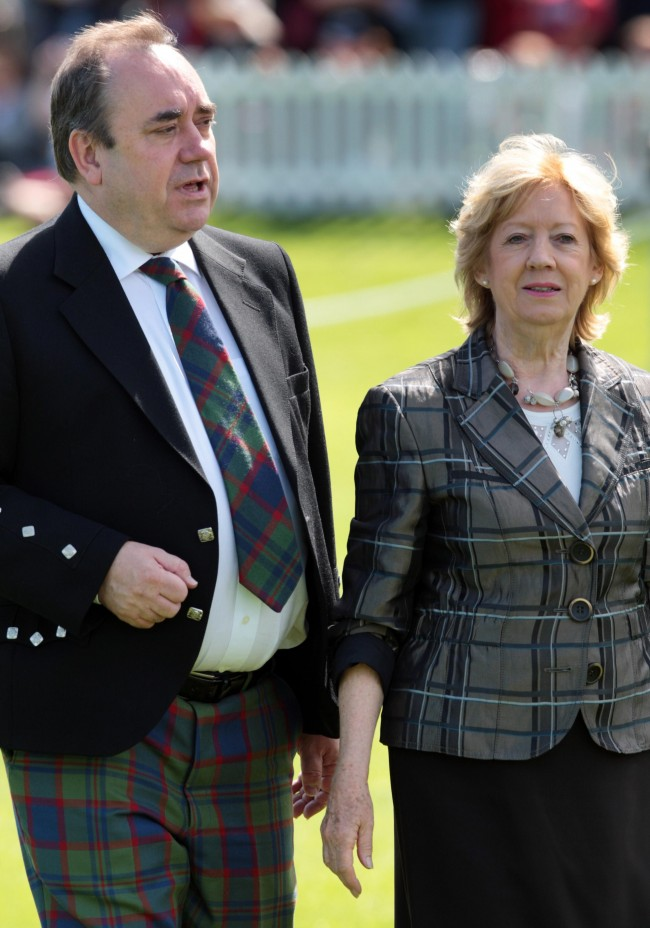 First Minister Alex Salmond and his wife, Moira arrive for the opening of The Gathering 2009, at Holyrood Park, Edinburgh.