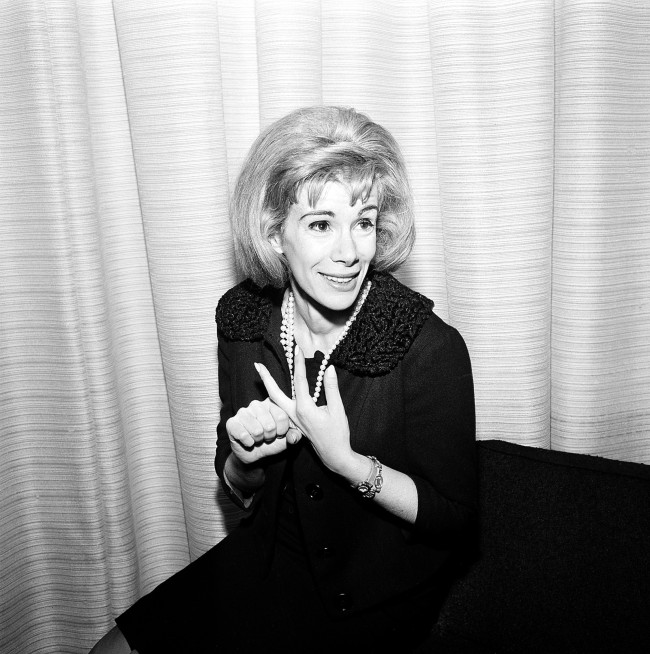Comedienne Joan Rivers is shown in Los Angeles, Ca., April 12, 1965.