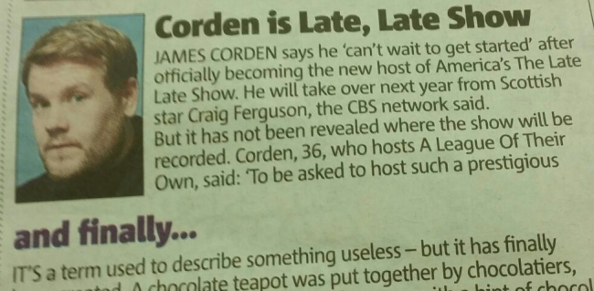 Screen shot 2014 09 09 at 20.43.28 Probably The Best Story About James Corden Ever