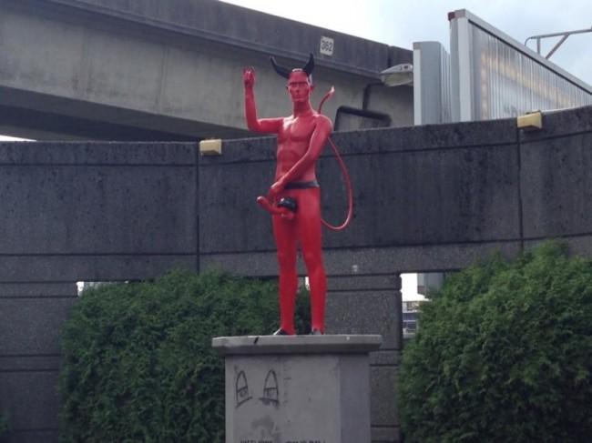 Vancouver devil dick statue 1