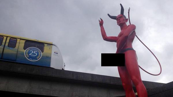 Vancouver devil dick statue