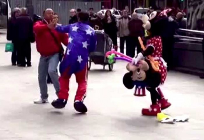 mickey mouse fight