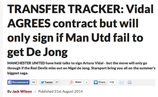 vidal agrees Manchester United