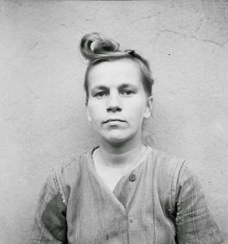 Elizabeth Volkenrath: head wardress of the camp: sentenced to death. She was hanged on 13 December 1945.