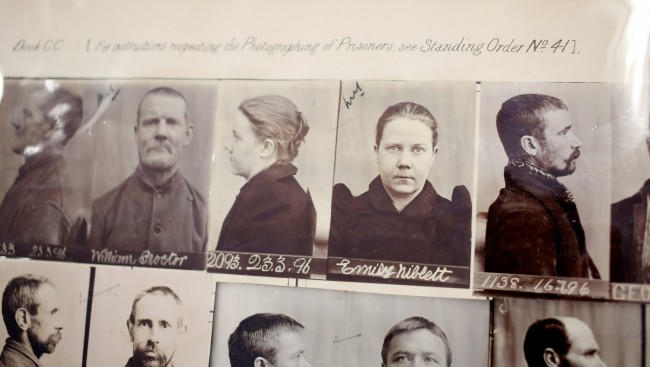 Pictures of prisoners held in Reading Prison around the same period that poet Oscar Wilde was held at the priso