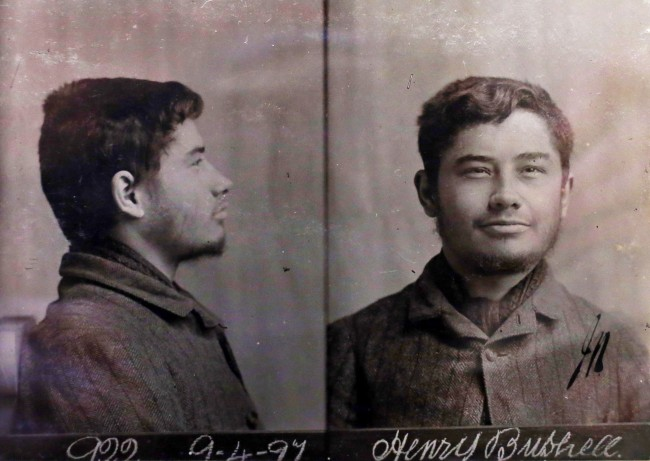 Rare Victorian ÔmugshotÕ pictures of Reading Prison prisoner Henry Bushnell, as poet Oscar Wilde met Bushnell whilst he spent time in the prison, Wilde indicated his attraction towards Bushnell in his letters and later sent him money