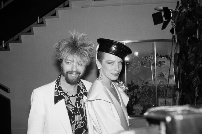 Annie Lennox and Dave Stewart of The Eurythmics. archive-pa209342-1 Ref #: PA.5808636  Date: 24/04/1984