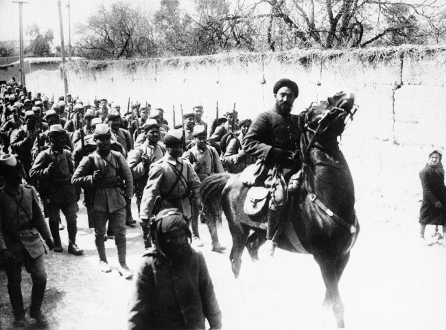 Turkish soldiers at military review at Damascus, Syria in an undated photo. (AP Photo) Ref #: PA.9983843  Date: 01/01/1914