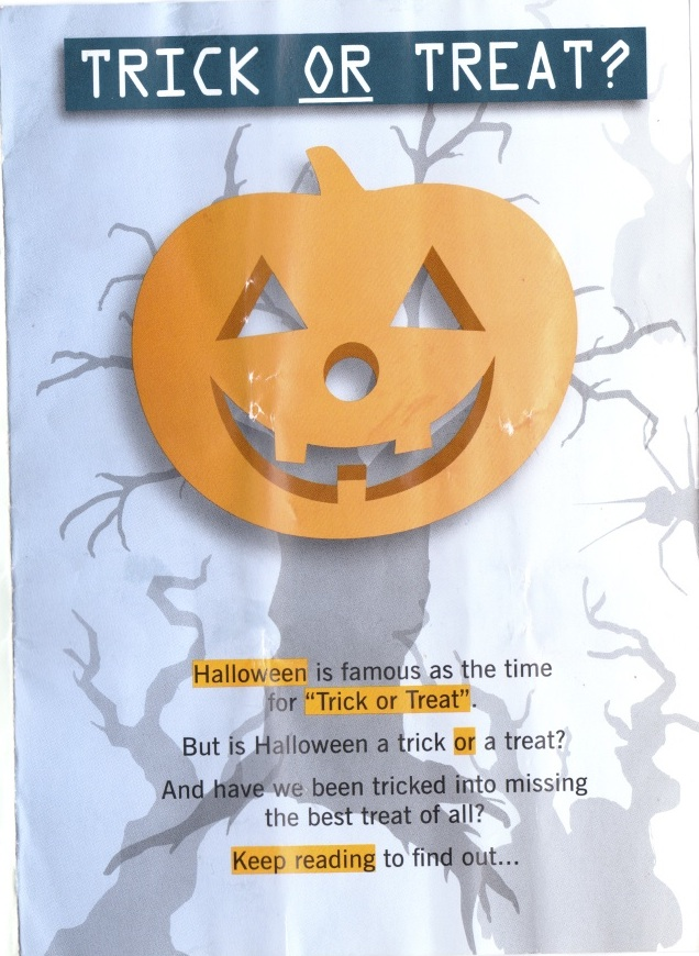 Scan 2 Halloween Horror: Vicar Hands Out Terrifying Devil Pamphlet To Trick Or Treaters