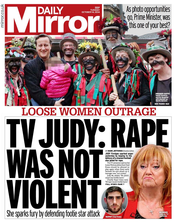 Screen shot 2014 10 14 at 09.32.23 Ched Evans Turns Judy Finnigan Into A Monster