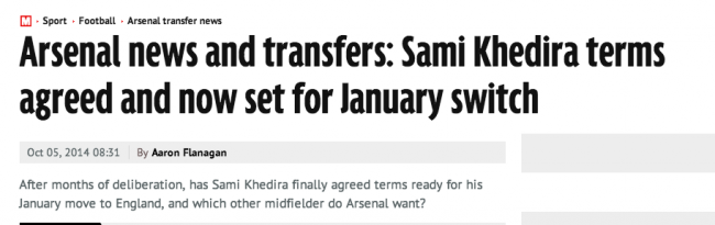 Screen shot 2014 10 31 at 08.20.34 Transfer Balls: Sami Khedira Heads To Arsenal Before Moving To Manchester City And Back To Chelsea