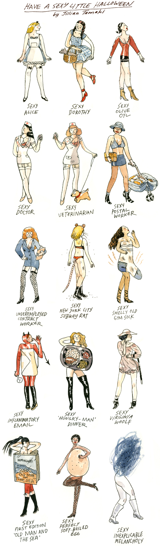 sexyhalloween Have A Sexy Halloween: Artist Lampoons The Fashion For a Slutty Costume
