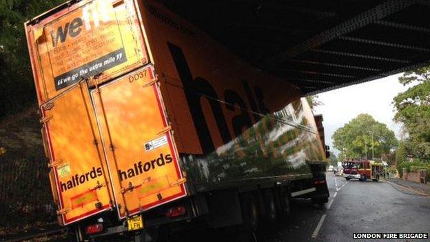 we fit Irony: We Fit Lorry Gets Stuck Below Bridge In Beckenham, Kent