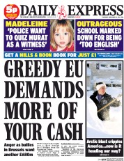 Daily Express 20 11 2014 Madeleine McCann: Robert Murat Is Back On The Front Pages