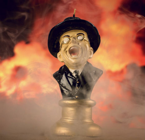 Nazi face candle Buy This Wonderful Raiders Of The Lost Ark Face Melting Candle