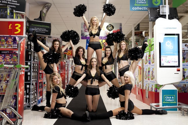 PA 21593429 Black Friday: The Asda Cheerleaders Fight To The Death Over Underwear At Victorias Secret