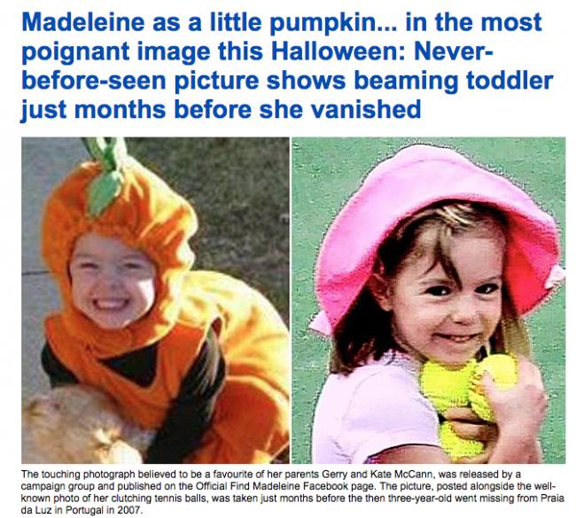 Madeleine Mccann halloween