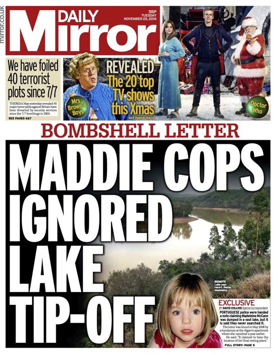 Screen shot 2014 11 25 at 08.02.36 Madeleine McCann: Searching Barragem da Bravura For Signs Of A Story