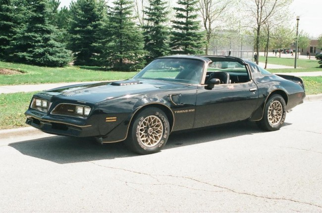 "Estimate: $60,000 - $80,000 Starting: $30,000 Few movies are as iconic in the world of cars as Smokey & the Bandit. Released January 1, 1977 starring Burt Reynolds, Sally Field and a black and gold ""Screaming Chicken"", the movie tells the story of the aches and pains of getting a Coors beer east of the Mississippi. This is Mr. Reynolds' 1977 Trans Am Coupe (T-Top) which was used as a promotional vehicle for the movie and gifted to Burt for his collection.  She features a 400 cid Pontiac V-8 engine, a 4-barrel carburetor and an automatic transmission.  With a gold plaque on the driver door stating ""1977 Pontiac Trans Am Owned By Burt Reynolds"" and a customized ""Bandit"" logo, this is ""no ordinary automobile""; it's a piece of ""Hollywood History"".  This is an amazing opportunity to own what just might be the coolest car EVER!"