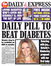 Daily Express 25 2 2014 Tabloid Tropes: The Daily Express cured Diabetes in 2014