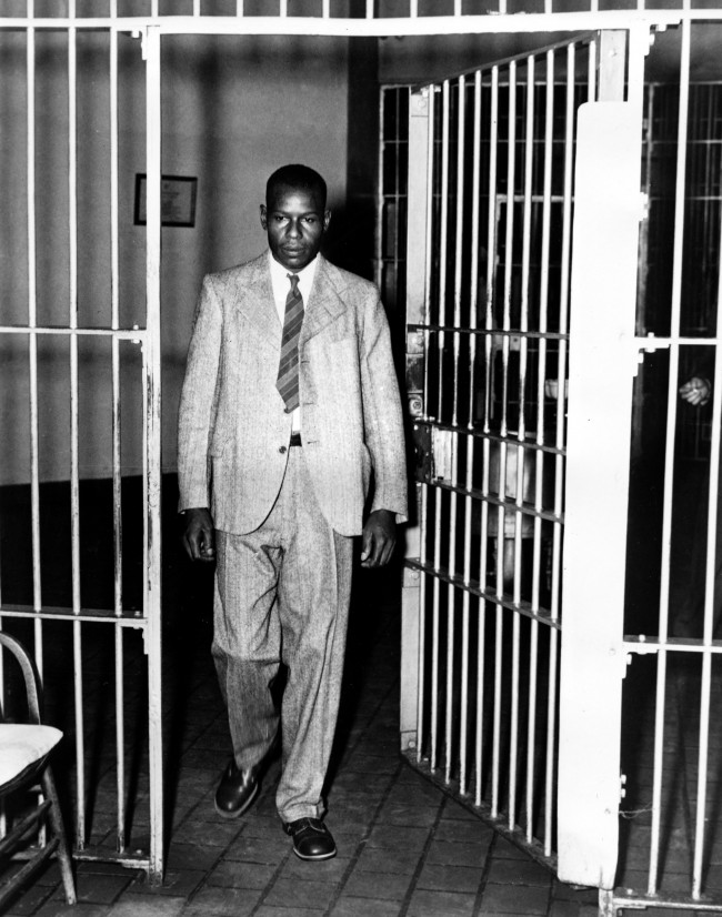 Clarence Norris, one of nine blacks involved in the Scottsboro case of 15 years, walks through the main cell gate at Kilby Prison in Montgomery, Ala., Sept. 27, 1946, after receiving his parole after serving nine years of a life sentence. Norris is one of five sentenced to prison in 1937 after six years of court litigation growing out of charges that the nine Scottsboro boys raped a white woman on a freight train. (AP Photo)