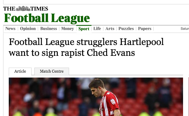 Screen shot 2014 12 20 at 20.16.54 Hartlepool wants to sign footballer Ched Evans: the rapist Ched Evans comes in 2 4 1 package