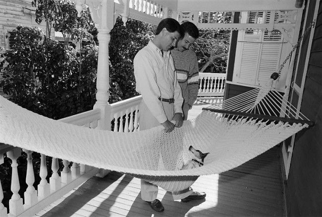 Trip and Alan, Key West, FL, 1988