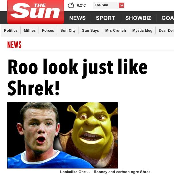 rooney wayne shrek fat