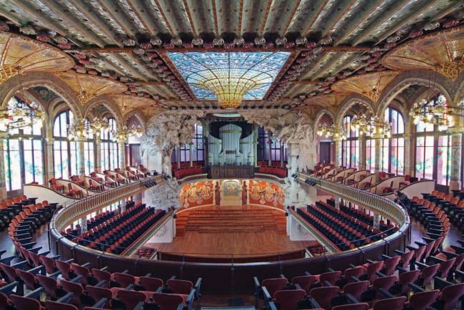 Palau de la Música Catalana, Barcelona, Spain.