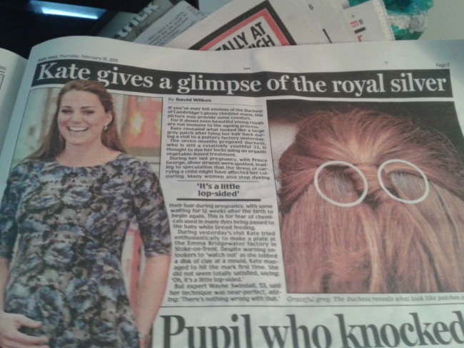 Daily Mail Kate Middleton